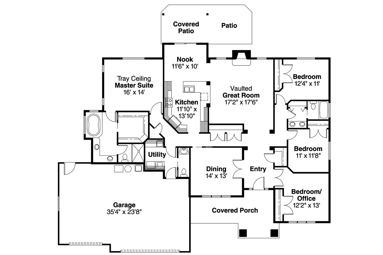 Floor plans small craftsman craftsman house floor plans 5 for 5 bedroom craftsman house plans