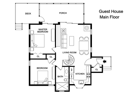Guest House Floor Plan Back Yard Guest House Floor Plans