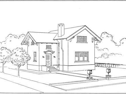Bedroom Perspective Drawing Perspective House Drawing