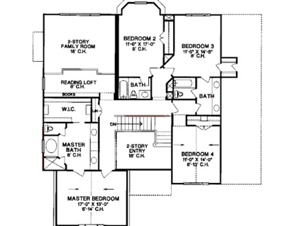 House Plan 4 Beds 35 Baths 3222 Sq/Ft Plan #20 1100 Floor Plan 4 Bedroom House Plans