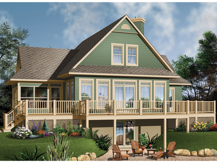 Lake House Plans with Screen Porches Lake House Plans with Basement