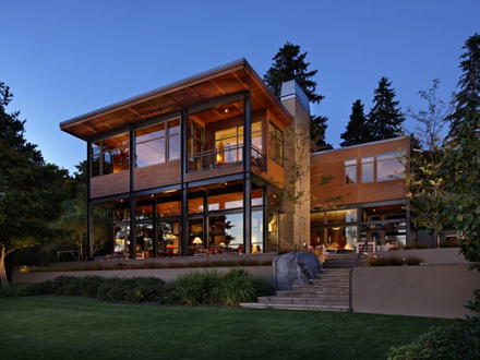 Large Contemporary House Plans Contemporary Lake House Plans