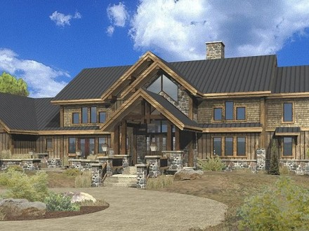 Large Estate Log Home Floor Plans Luxury Mountain Log Homes
