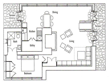 Location of Seth Peterson Cottage Seth Peterson Cottage Floor Plan