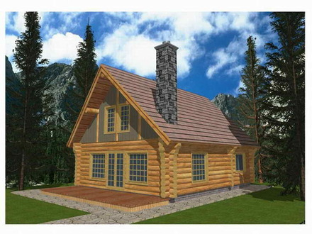Log Cabin House Plans Single Story Log Cabin House Plans