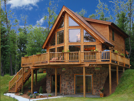 Log Cabin Lake House Plans Cabin by the Lake
