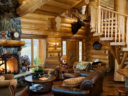 Log Cabin Style Homes Interior Log Cabin Style Home Interiors