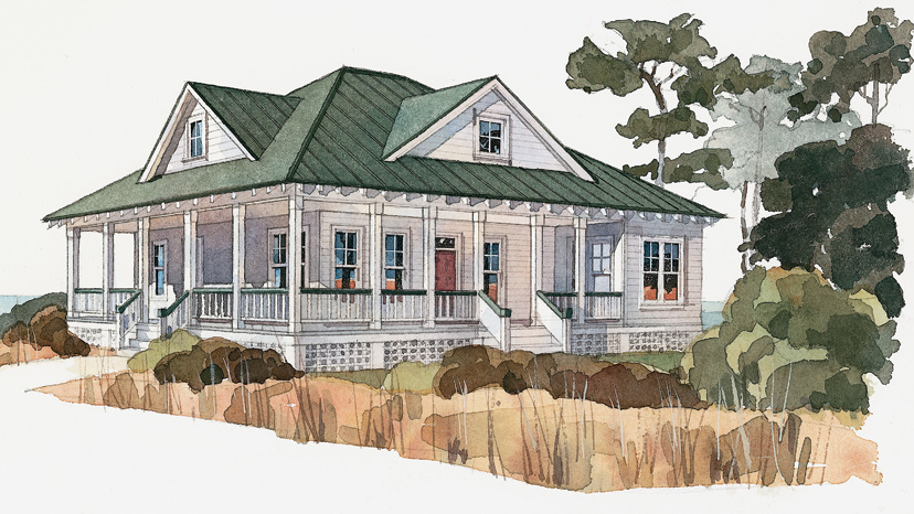 Low country cottage house plans low country house plans for Tidewater home designs