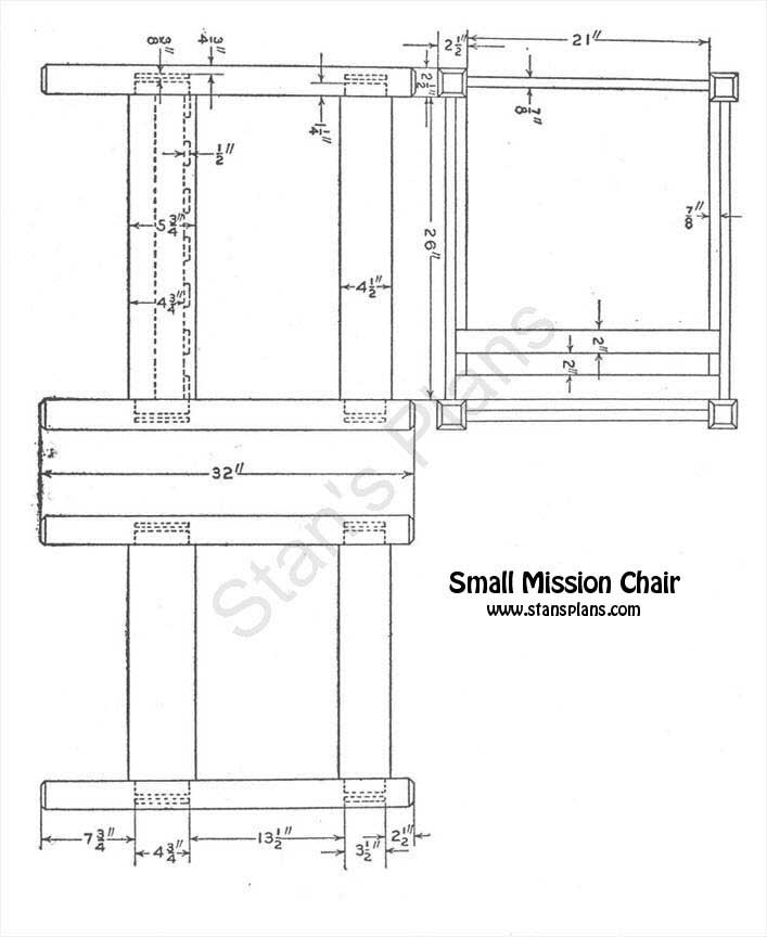 Mission style chair storage mission style chair plans free for Mission santa barbara floor plan