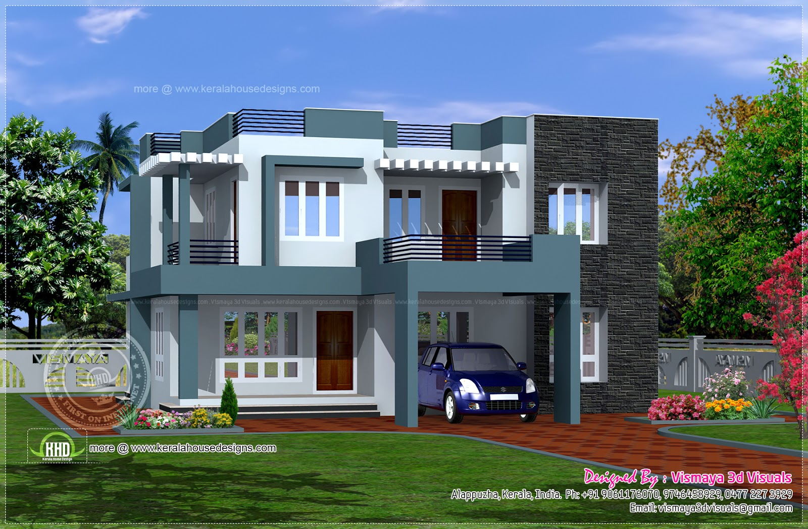 Modern tropical house design simple home modern house for Modern house plans with pictures