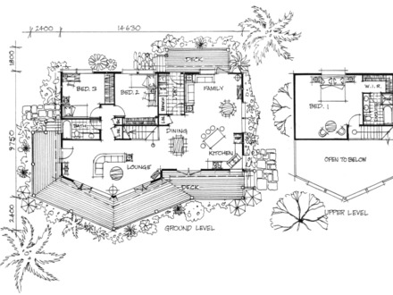 Panoramic view house plans craftsman style floor plans for Prow front house plans