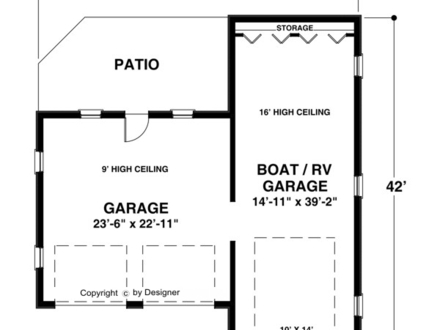 Annie Leibovitz Re Lists Urban  pound 344 further Print this plan further Bungalow Floor Plans as well 1 200 Sf Ranch House Plans likewise Default. on attached apartment house plans