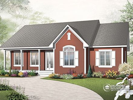 New Single Story Homes Single Story Cottage House Plans