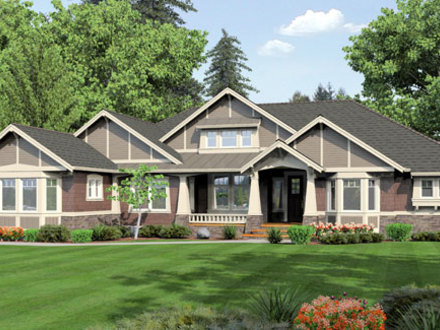 One Story Brick House One Story Ranch House Plans