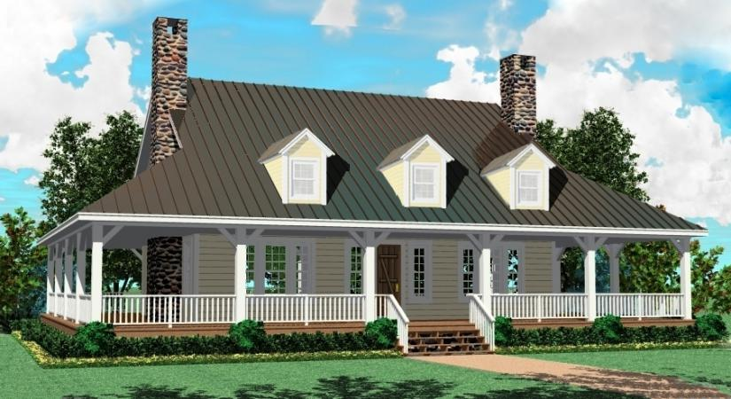 One story farm house plans adding a porch to a one story for Adding a farmers porch to a ranch