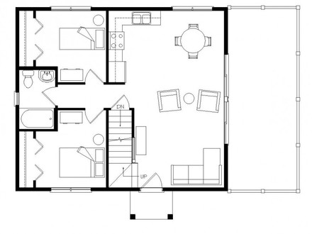 Open Floor Plans with Loft Open Floor Plans Small Home