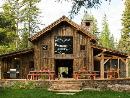 Affordable rustic log homes log home rustic country house for Affordable barn homes