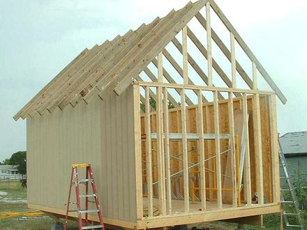 Shed Roof Framing Slant Roof Shed Framing 101