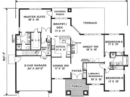 Simple One Story House Floor Plans Medium One Story Houses