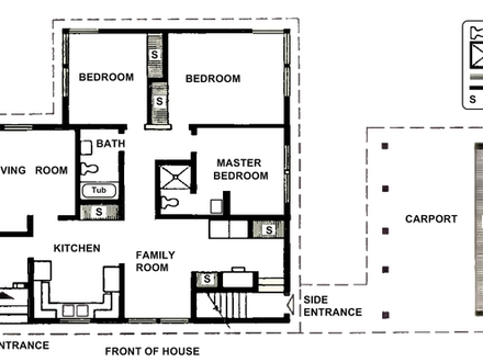 Simple Two-Story House Two Bedrooms Small Two Bedroom House Plans