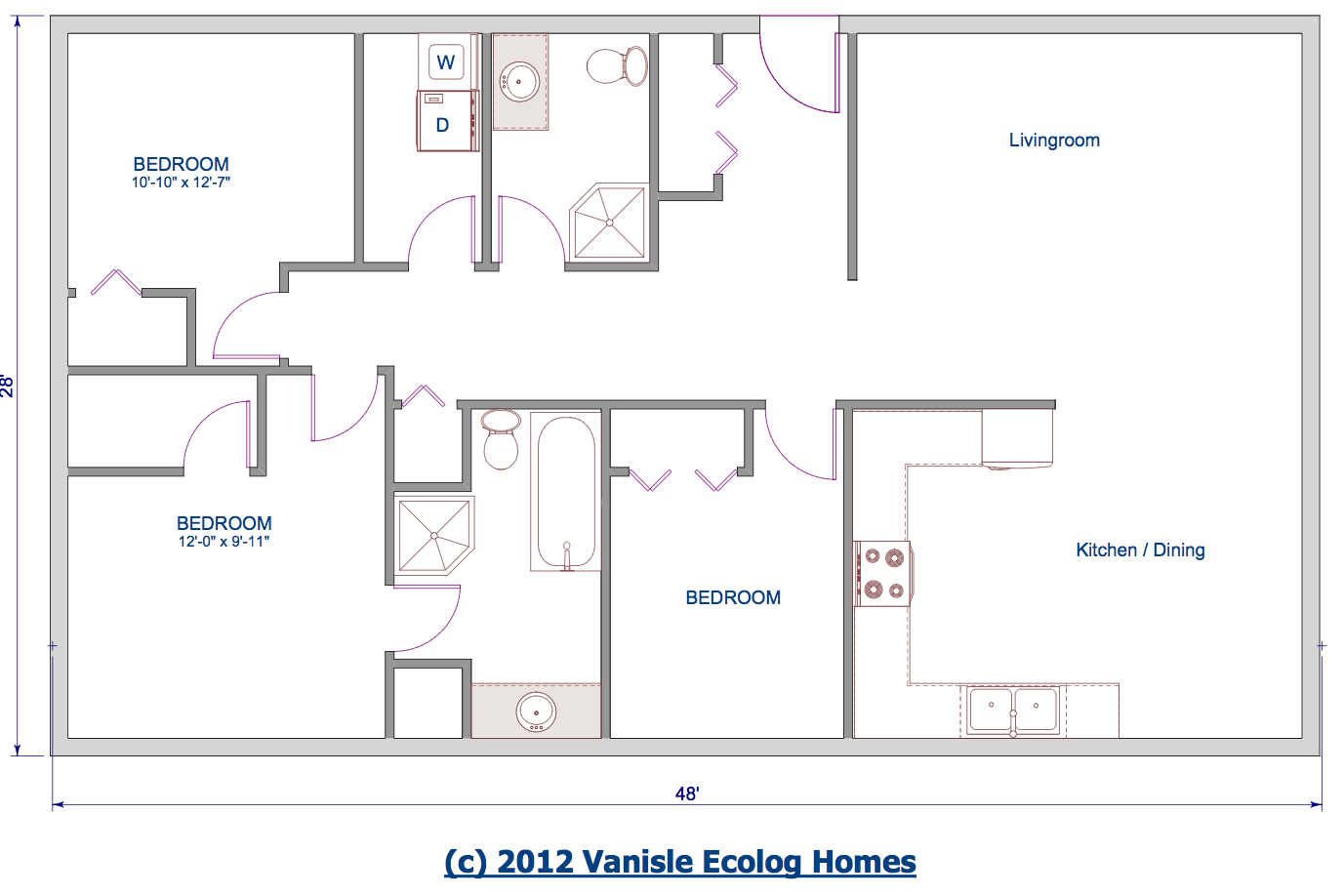 Single level cabin floor plans cabin floor plans open concept bungalow house plans - Cabin floor concept ...