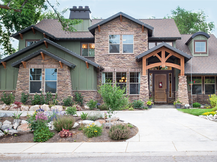 Most beautiful house plans beautiful craftsman style house for Beautiful single story homes
