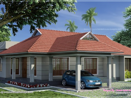 Single Story Homes Single Storey Kerala House Plans