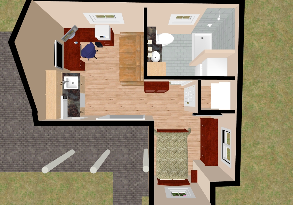 Small guest house floor plans garage guest house small for Garage guest house floor plans