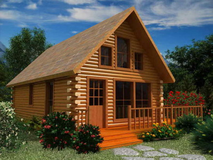 Small Log Cabin Floor Plans with Loft Log Cabin Landscaping