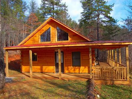 Small Log Cabin Homes in Woods Small Log Cabin Plans