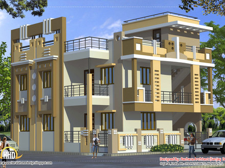 Small Mansion House Elevations Front Elevation Indian House Designs