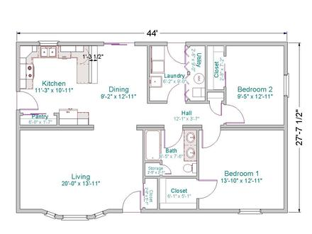 Small Ranch House Floor Plans Ranch -Style House