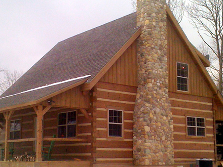 Types of Chinking Log Home Construction Different Types of Log Home Construction