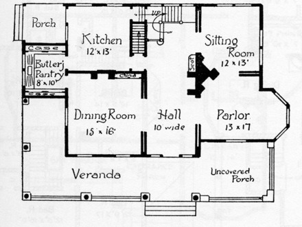 Victorian Style House Floor Plans Small Victorian House