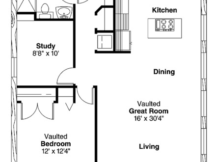 1 Bedroom House Simple Plans 1 Bedroom House for Rent