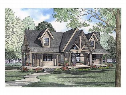 1- Story Log Home Plans Story Log Home Plan, 025L 0038 Dream Home Pinterest