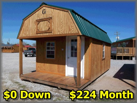 12X24 Lofted Barn Cabin Finished Lofted Barn Cabin Prices