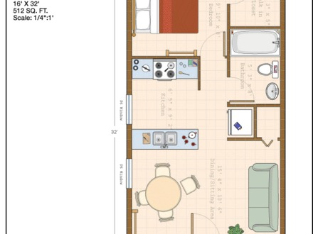 Small cabin plans 16x30 cabin floor plans 16 x 16 cabin for 20 x 32 cabin with loft