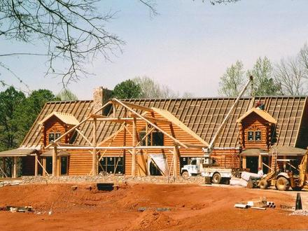 20000 Sq FT Log Home House 20000 Sq FT Metal Building