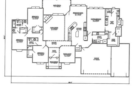 4 Bedroom House Floor Plans 4 Bedroom House Floor Plan 1 Story