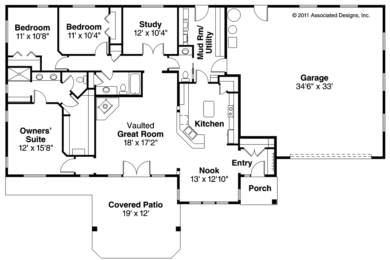 4-Bedroom Ranch Plans 4 Bedroom Ranch Style House Plans