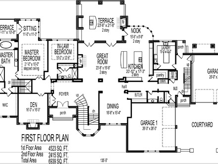 6 Bedroom House Plans Blueprints Luxury 6 Bedroom House Plans