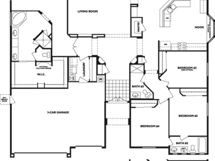 4 bedroom cabin plans 4 bedroom log home floor plans 4 for 4 bedroom log cabin floor plans