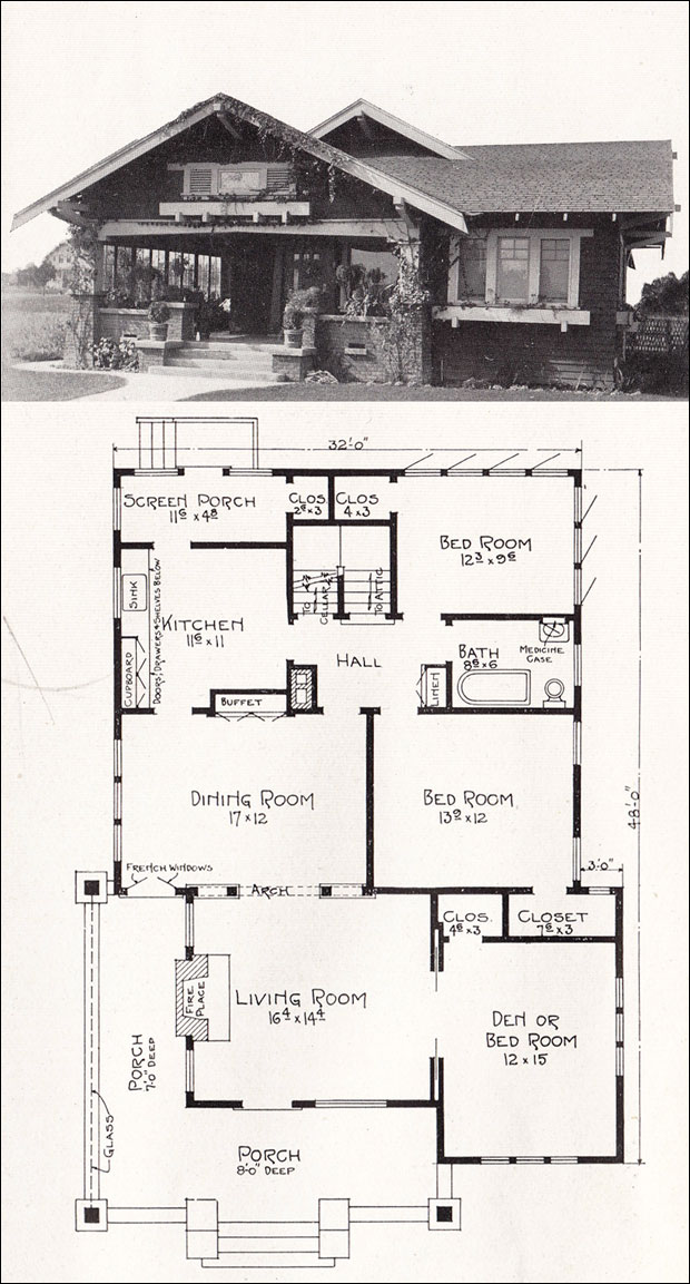 California Craftsman Bungalow House Plans California