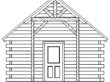 Camping Cabin Floor Plans Small Log Cabin Plans