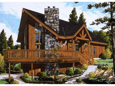 20 x 24 appalachian cabin 20 x 24 chalet plans with loft for Chalet style home kits