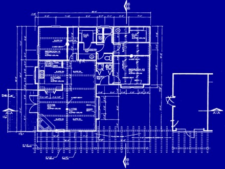 Color with House Blueprints House Building Blueprint