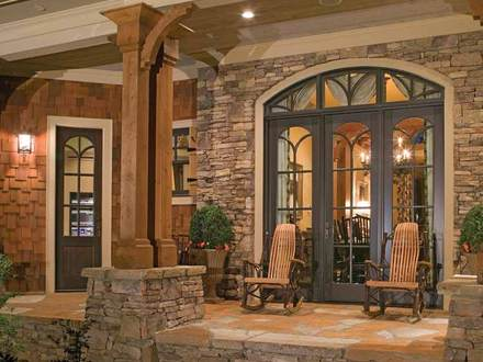 Country Craftsman Style Homes with Porches Rustic Style Homes