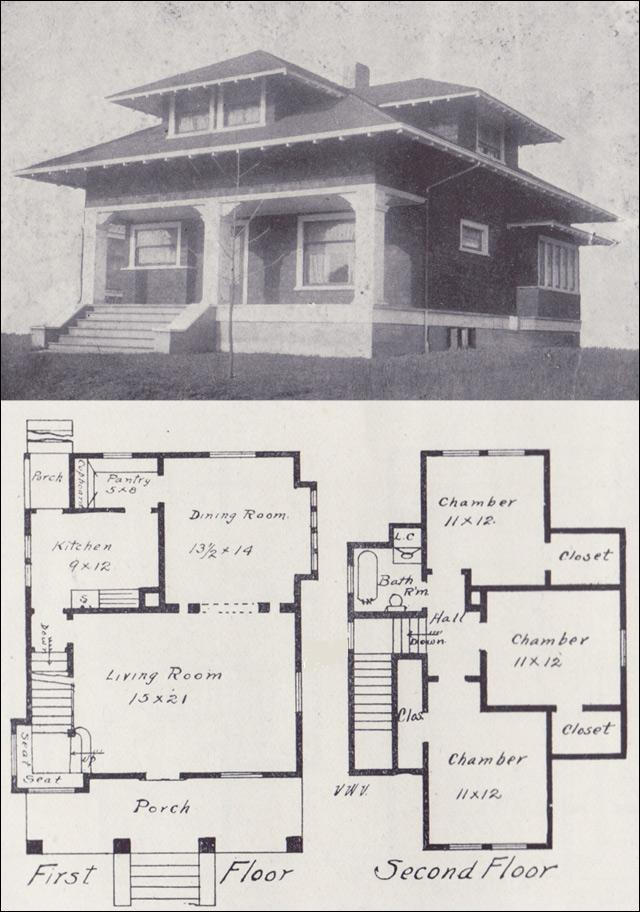 Craftsman bungalow style house plans old craftsman for Old style craftsman house plans