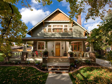 Craftsman Home Exterior Design Rambler Home Designs Ivory